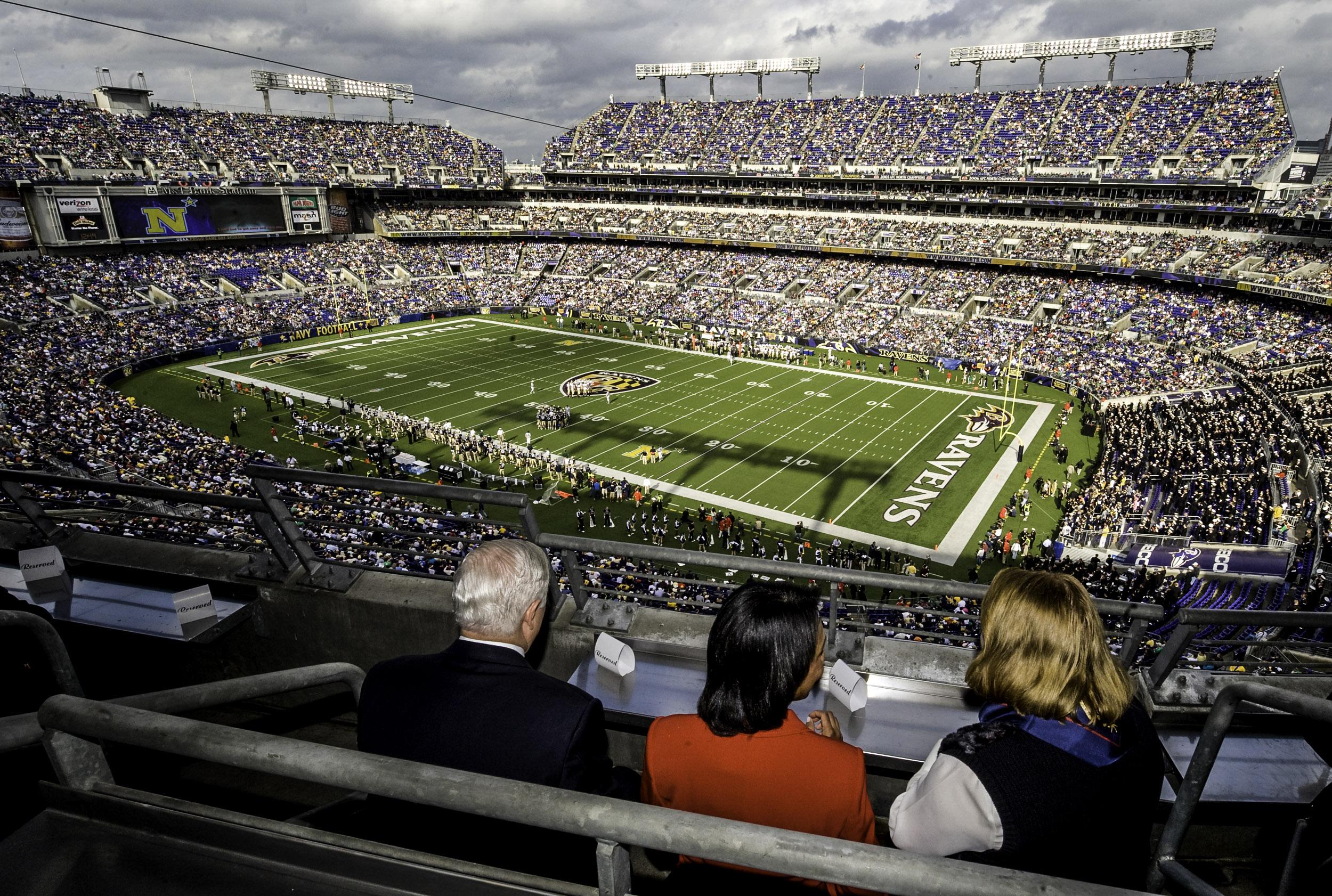 Il prestigioso stadio dei Baltimore Ravens