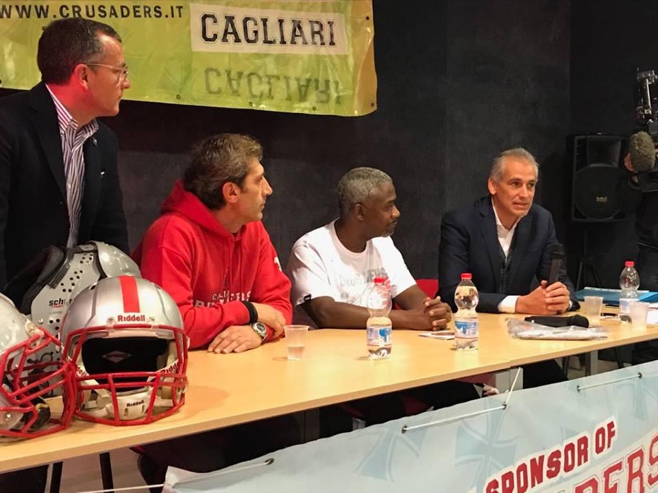 Emanuele Garzia parla ai giornalisti (Foto Giulia Congia)
