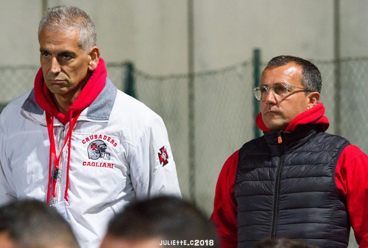 Il presidente Emanuele Garzia e il team manager Ninni Marongiu (Foto Giulia Congia)