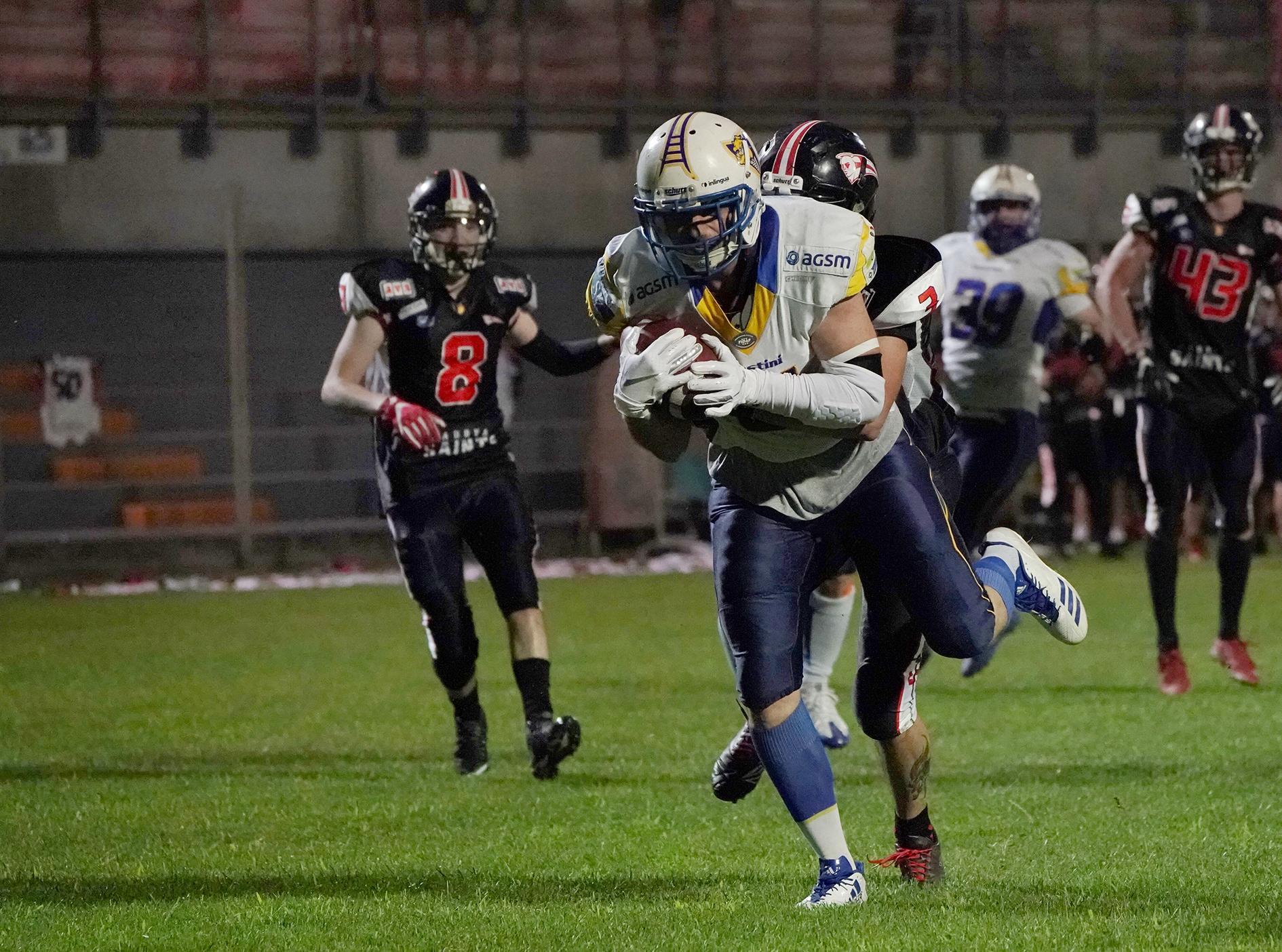 quarti di finale - Pierpaolo Bozzini in touchdown (foto Nicola Vivian)